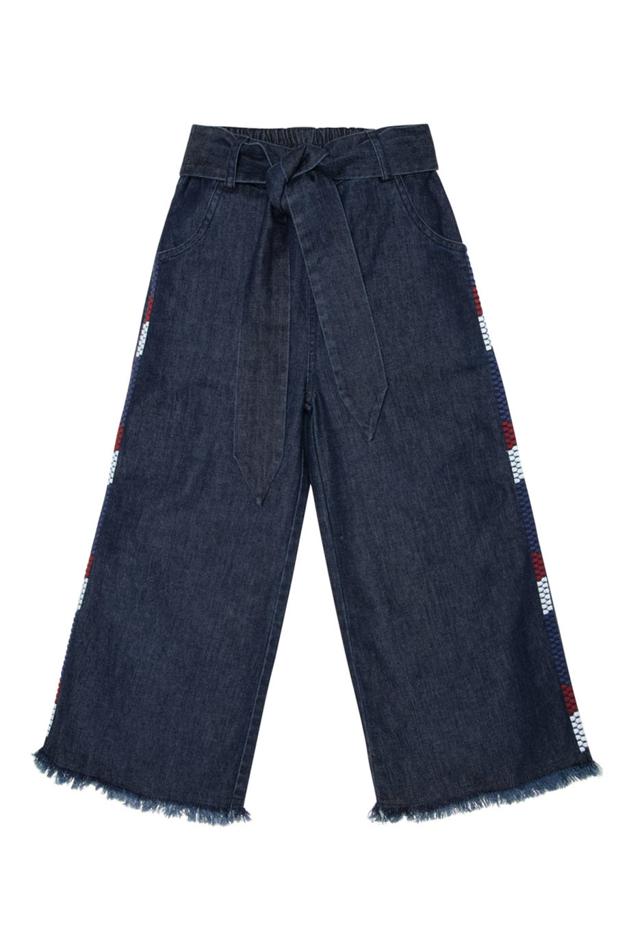 Julia denim pants with embroidery-1