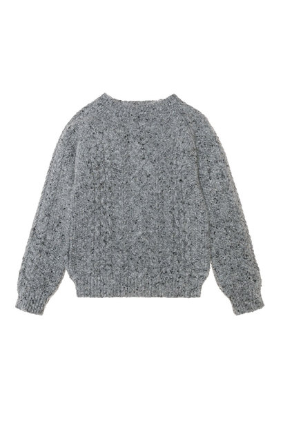 Noel tweed cable jumper - Grey Melange