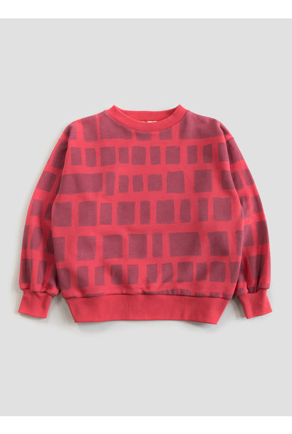 Balloon sweatshirt - Red Tile