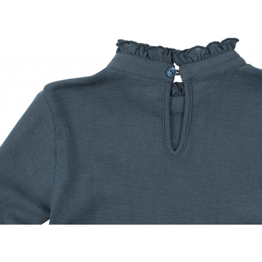 Vanja long sleeve T-shirt - Thunder Blue-3