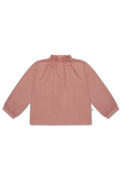 Ruffle blouse - Powder Peachy
