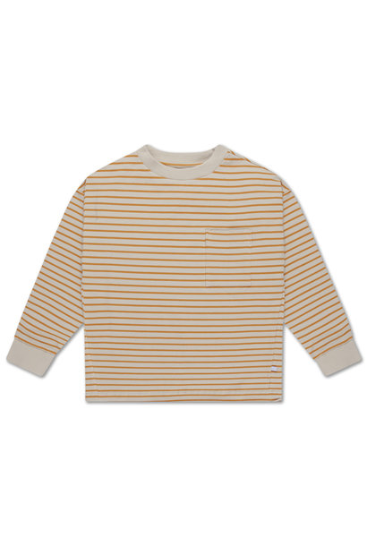 Sweat Tee - Butterscotch stripe
