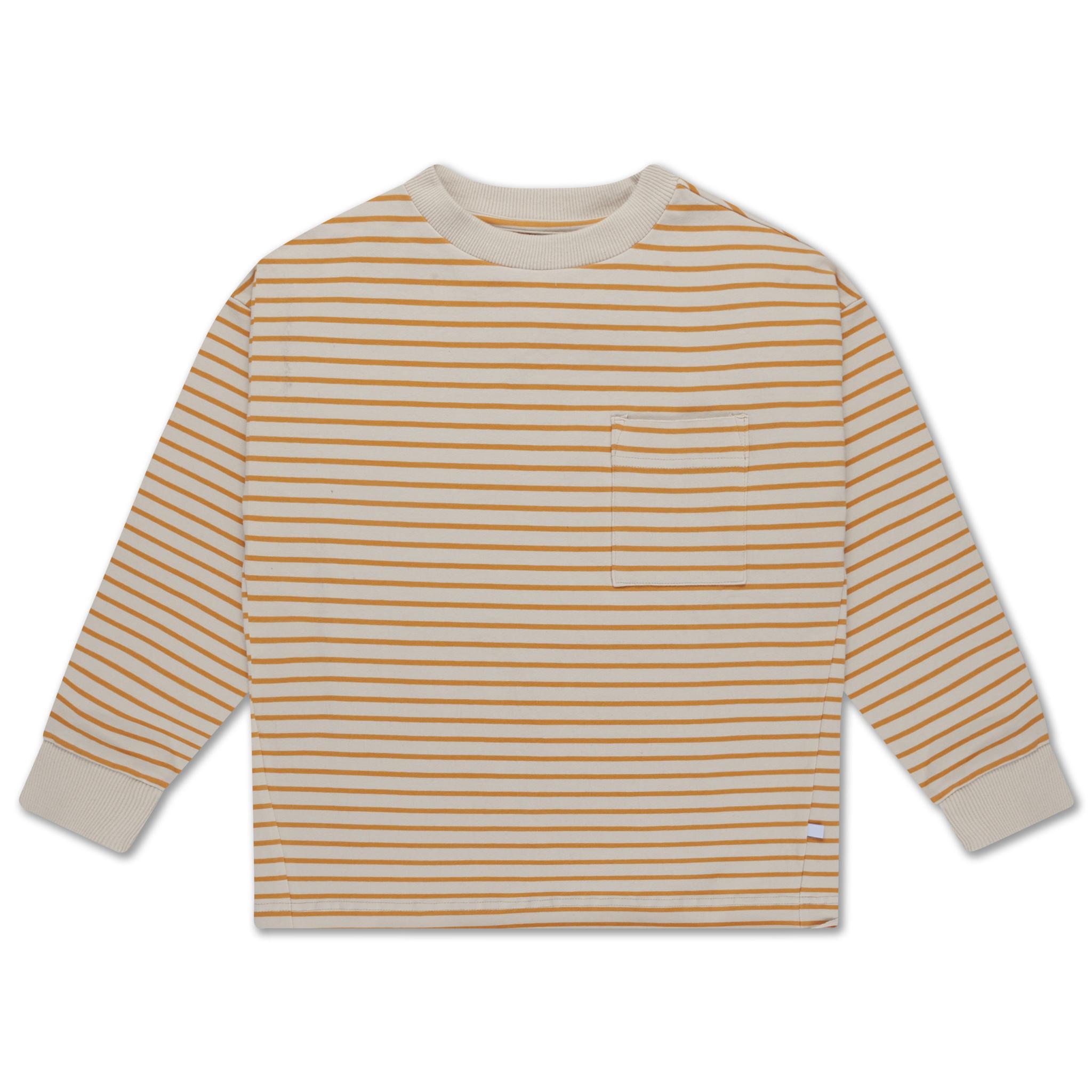 Sweat Tee - Butterscotch stripe-1