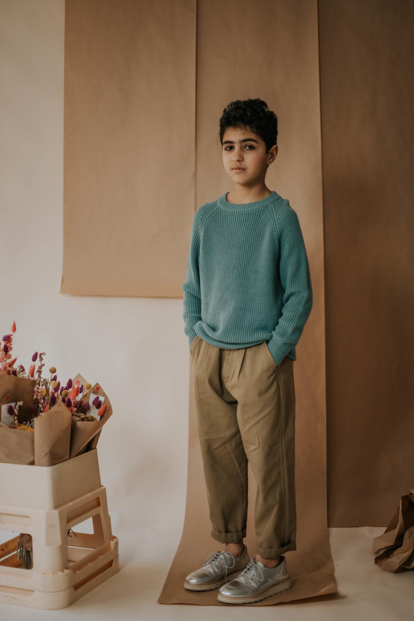 Knit sweater - Greyish Sea-2