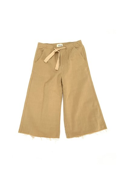 Canvas pants - Beige canvas