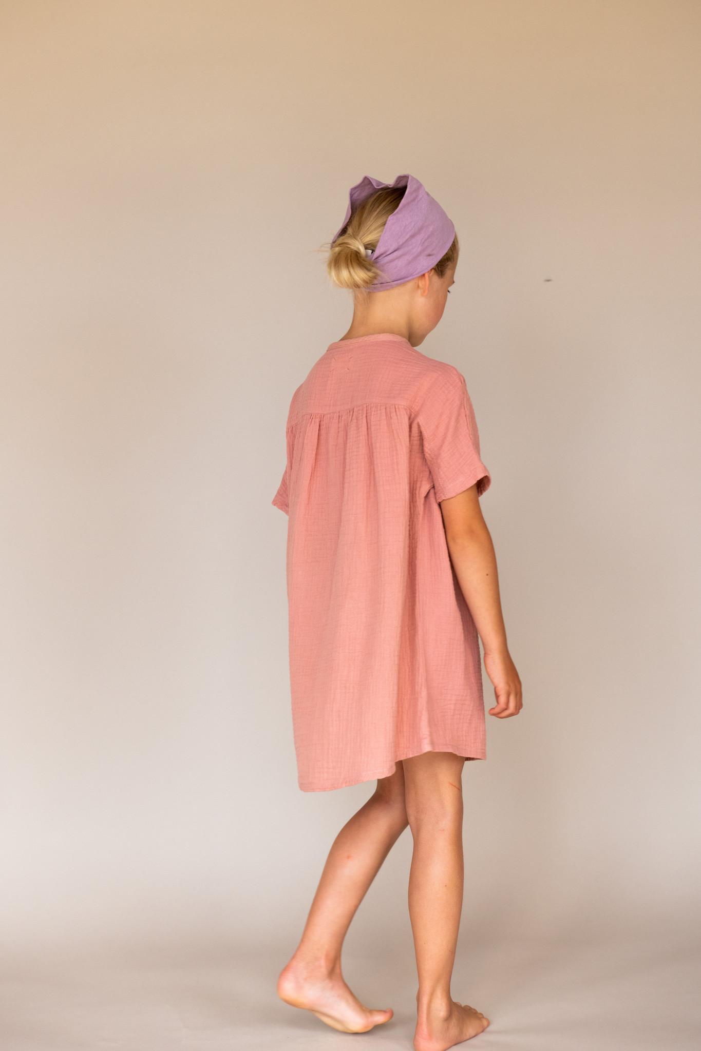 Crinkle dress s/s - Nude-2