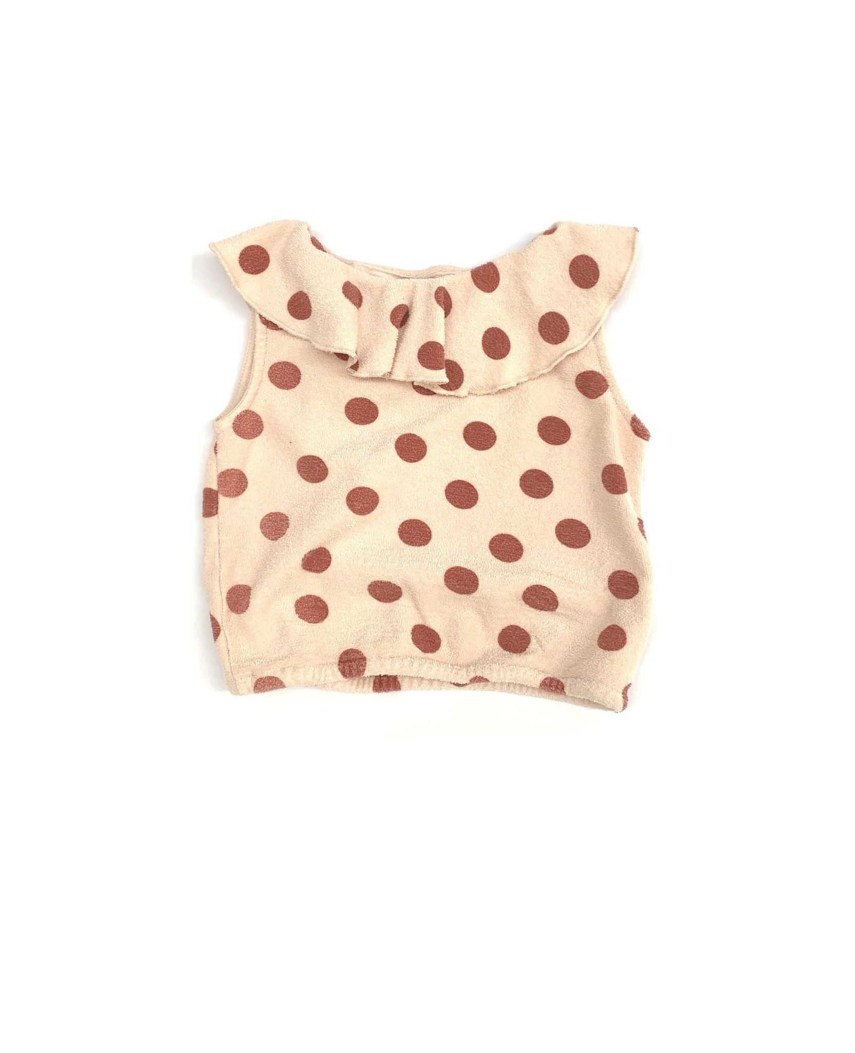 Terry top - Brown dots-1