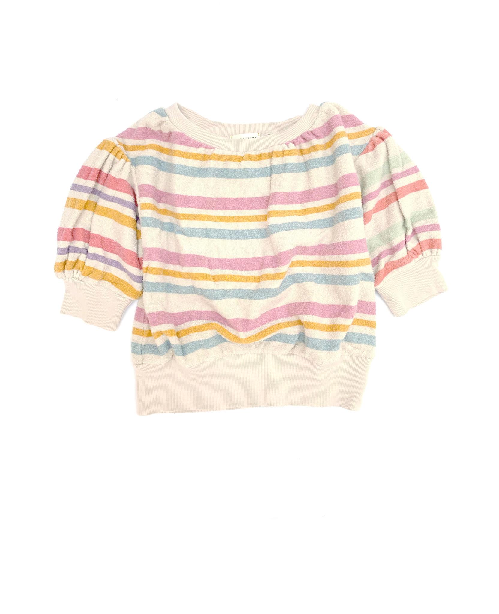 Terry s/s sweater - Stripe-1