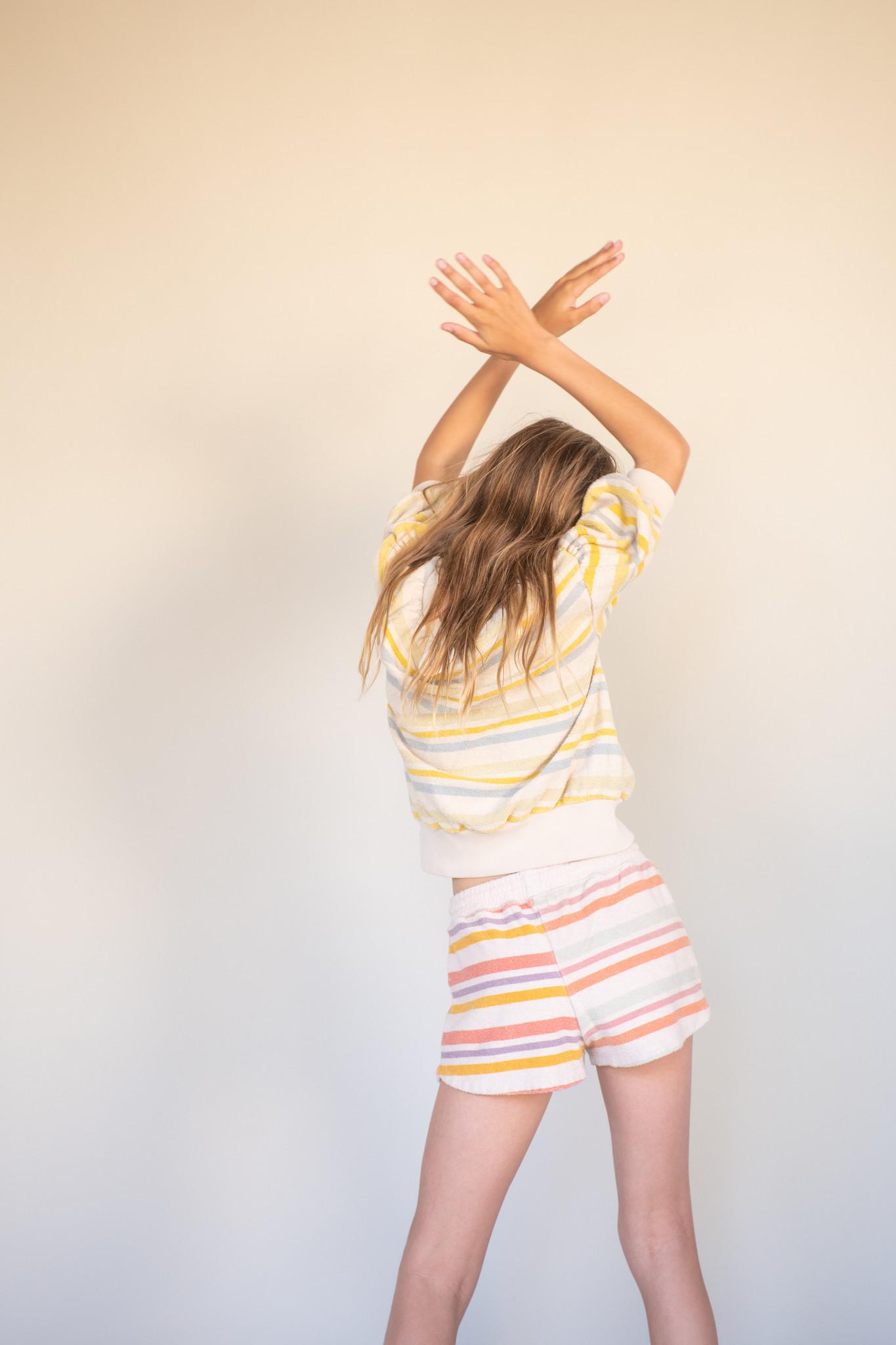 Terry s/s sweater - Stripe-2