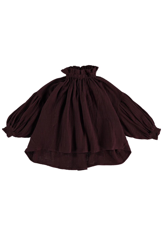 Olivia blouse - Burgundy-1