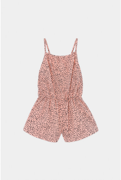 All Over Leopard Woven Playsuit