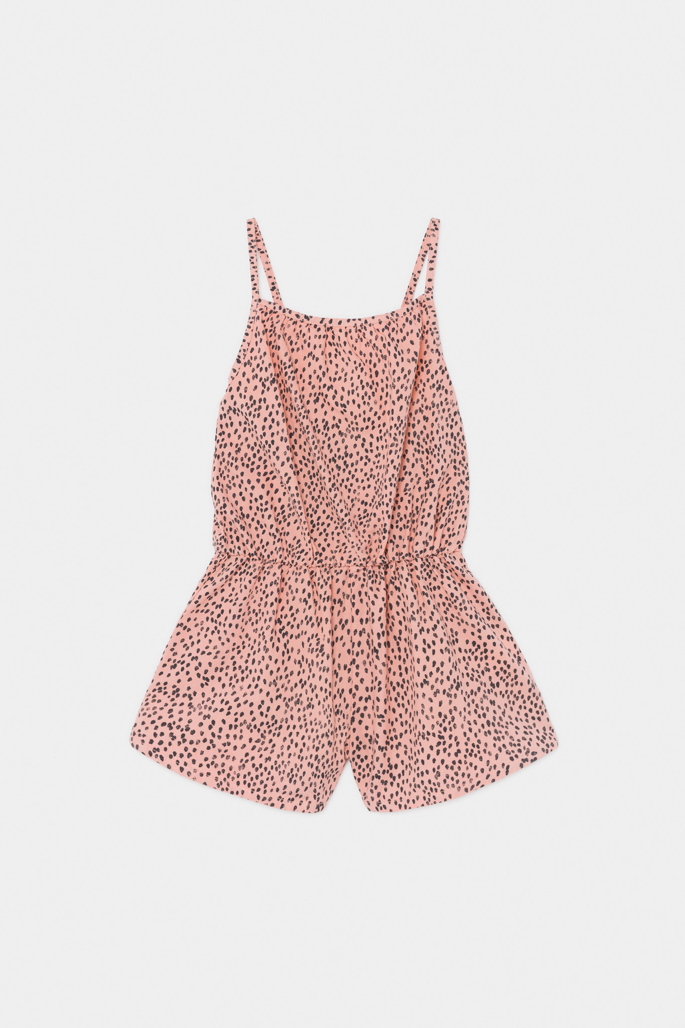 All Over Leopard Woven Playsuit-1