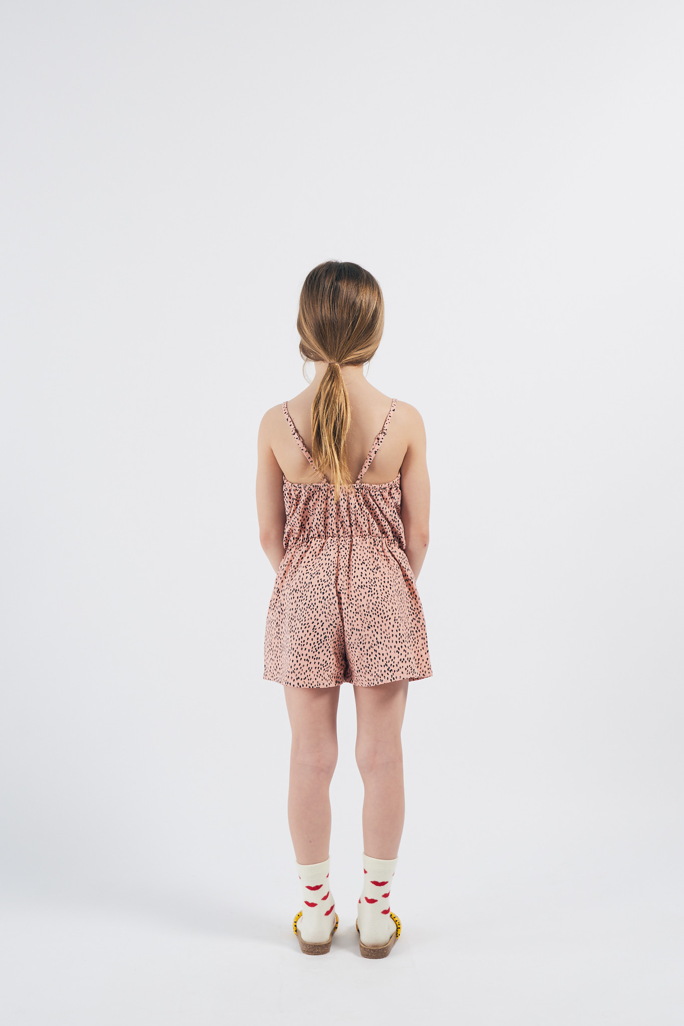 All Over Leopard Woven Playsuit-4