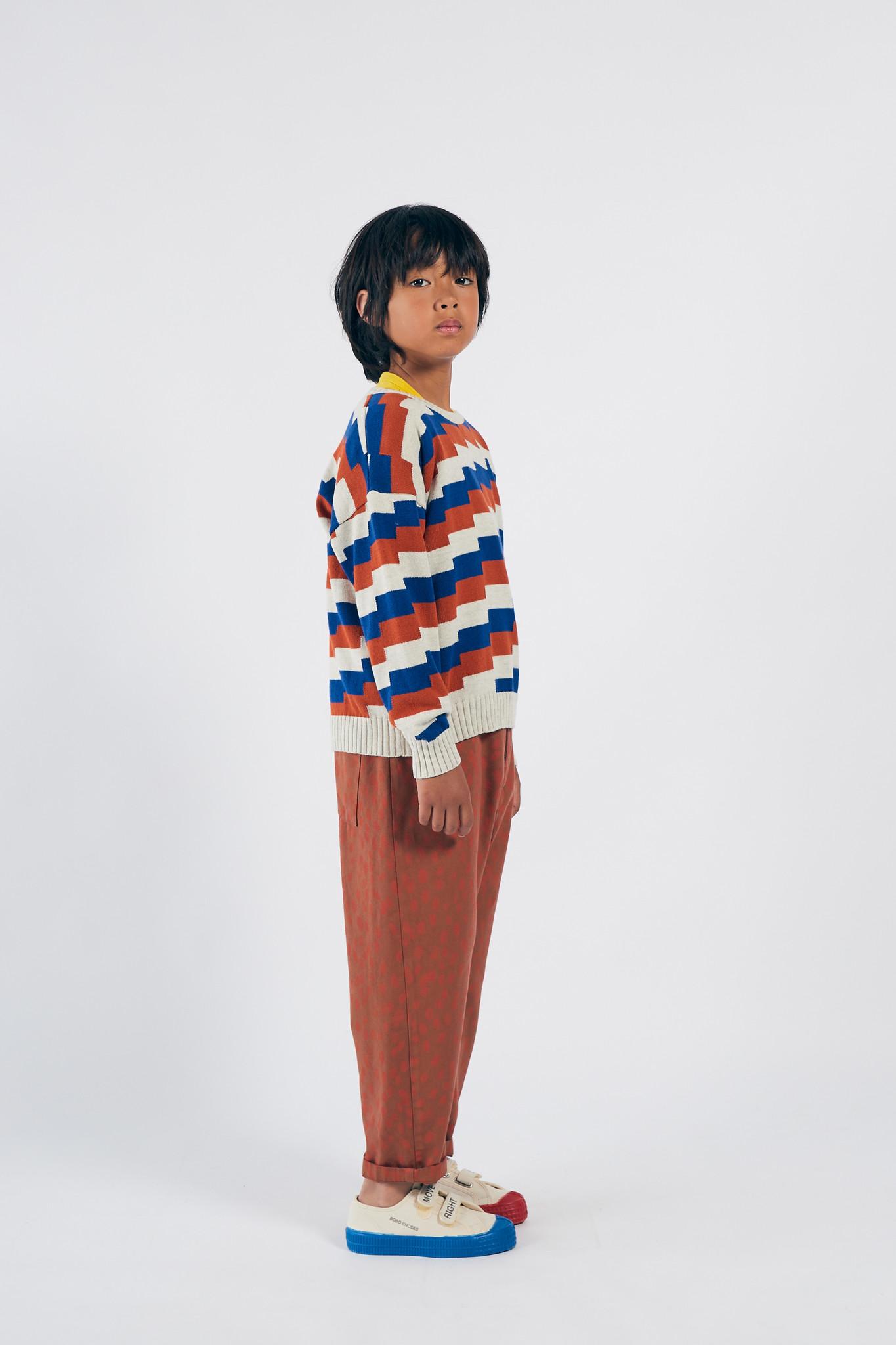 Geometric Knitted Jumper-2