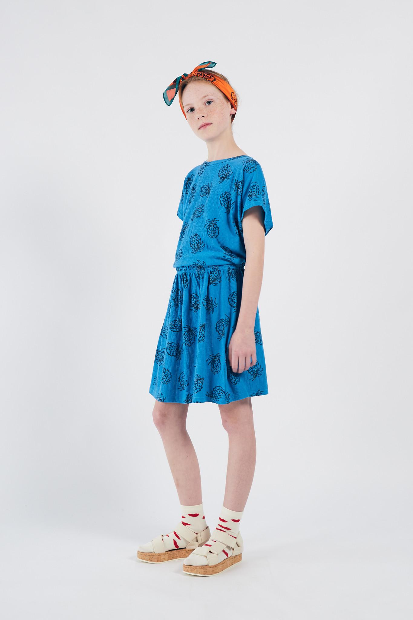 All Over Pineapple Jersey Skirt-2