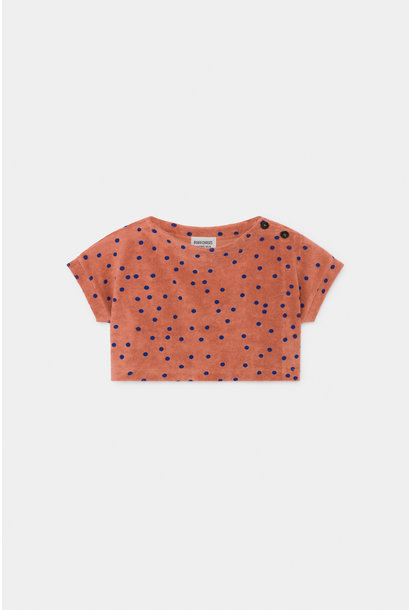Spots Terry Towel Cropped Sweatshirt
