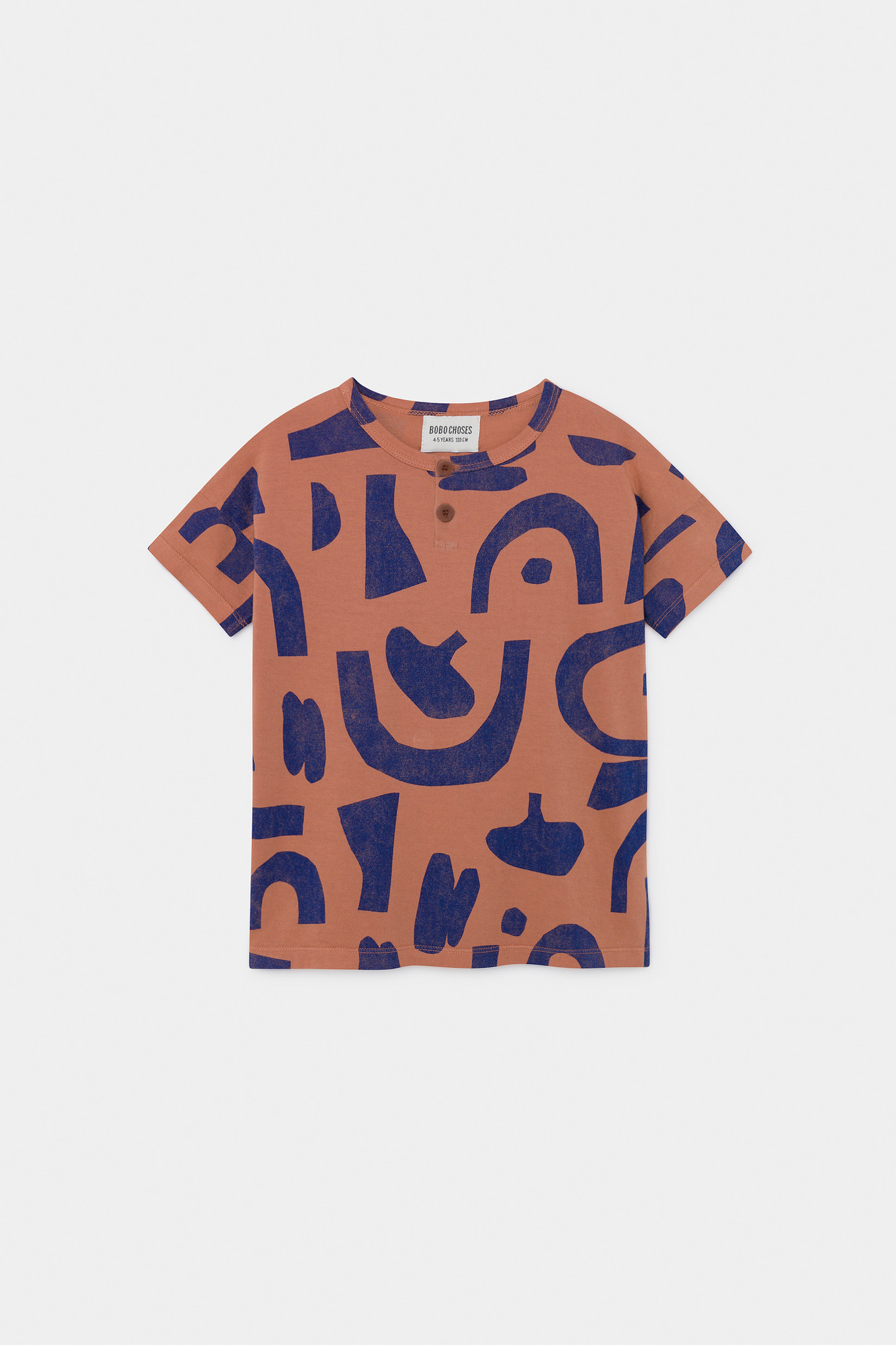 Abstract Buttoned T-Shirt-1