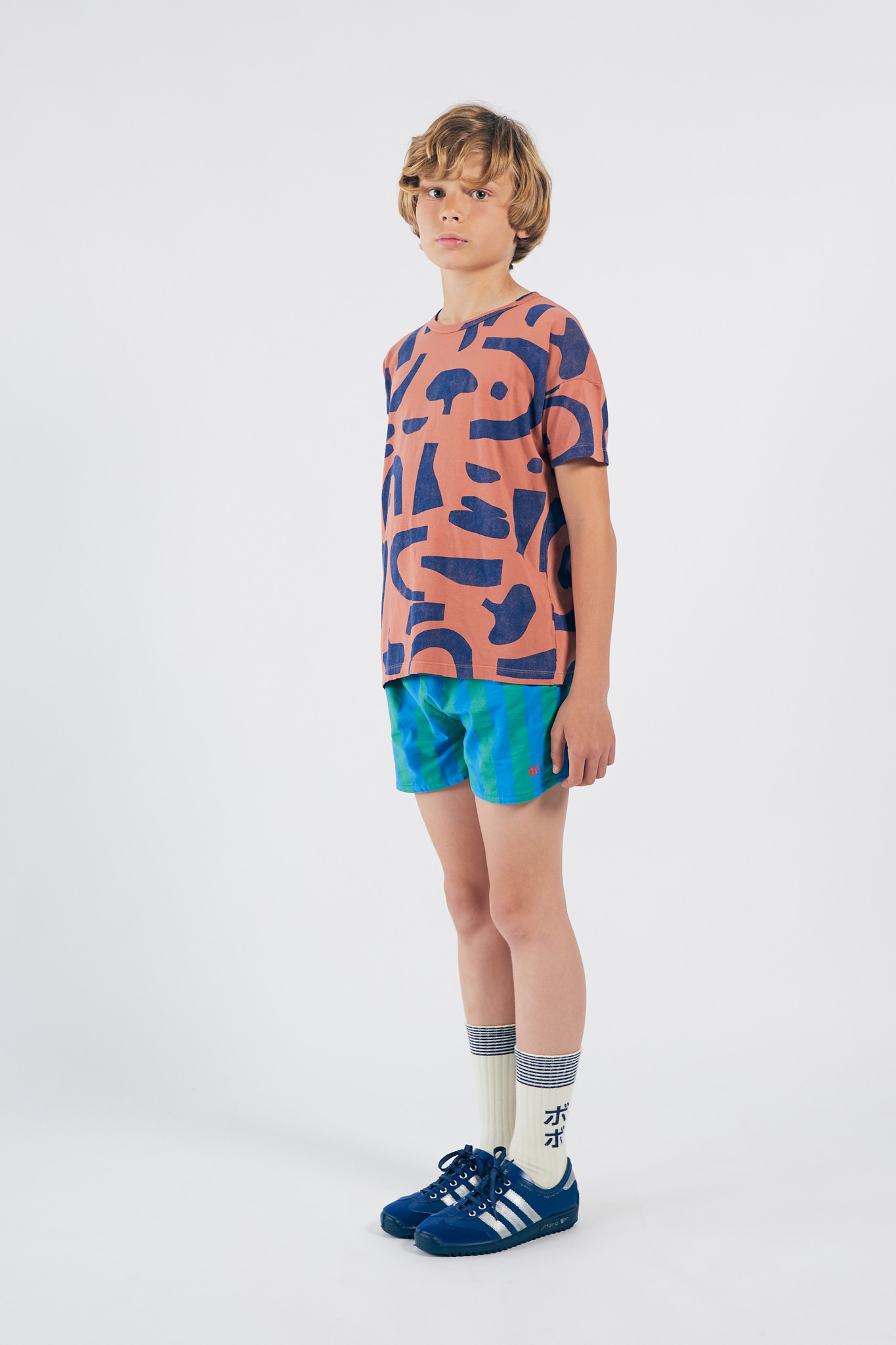 Abstract Buttoned T-Shirt-2
