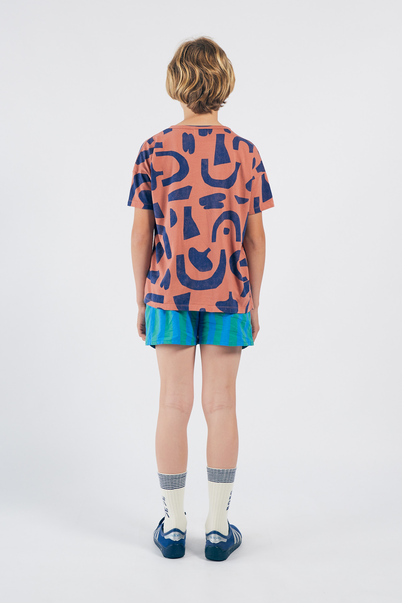 Abstract Buttoned T-Shirt-3