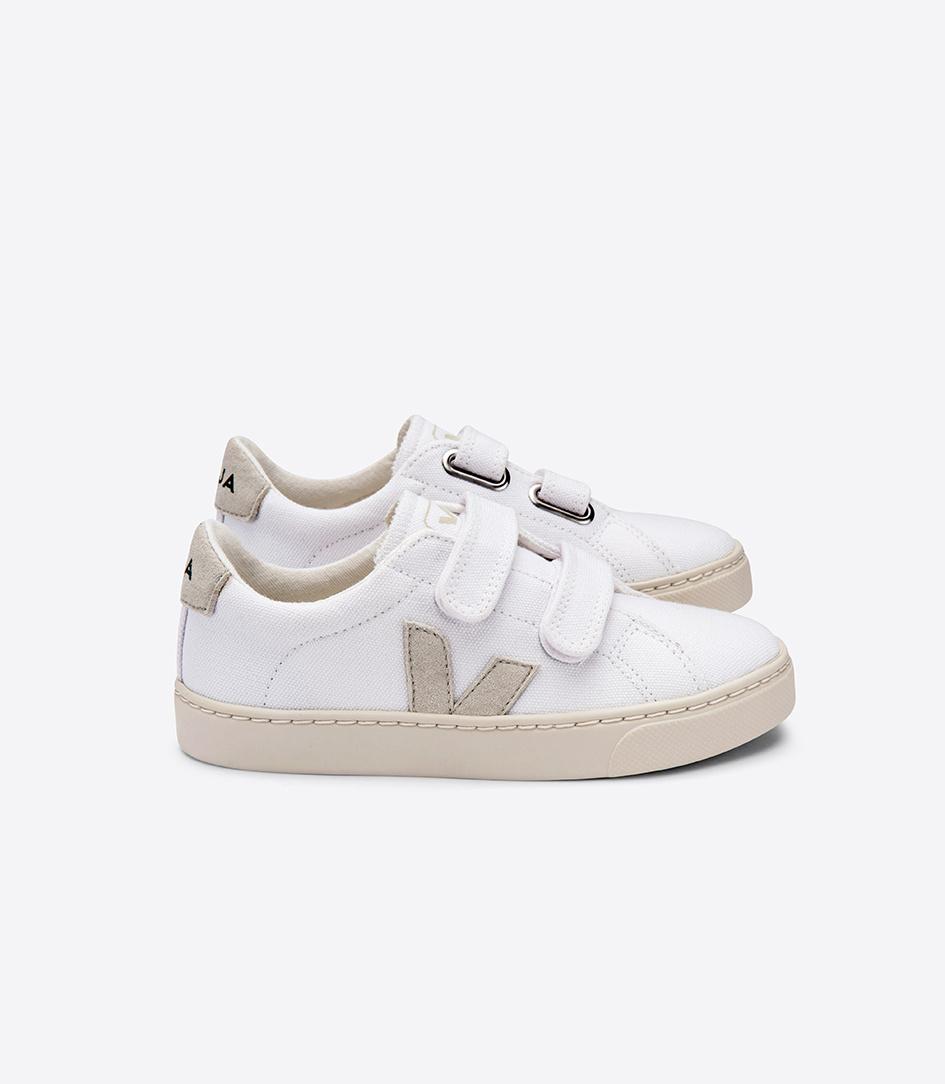 Esplar velcro Junior - Canvas White Natural-1
