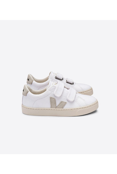 Esplar velcro Kid - Canvas White Natural