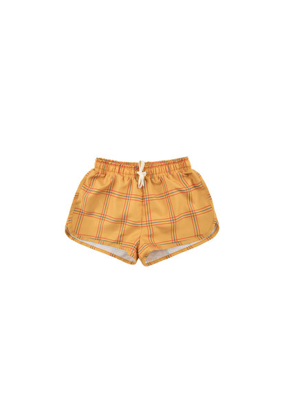 CHECK TRUNKS - Gold / Red