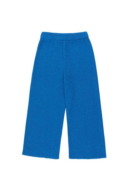 SHINY RIB PANT - Cerulean Blue