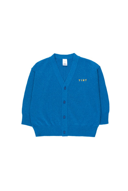SHINY CARDIGAN - Cerulean Blue