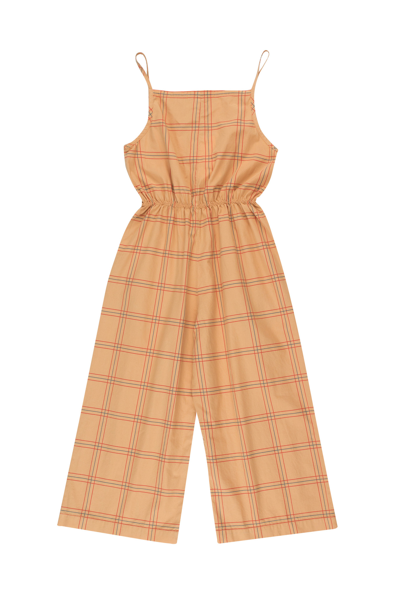 CHECK JUMPSUIT - Toffee / Red-3