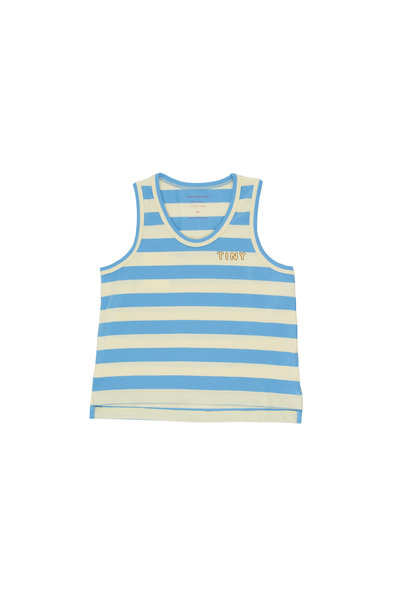 TINY STRIPES TANK TOP - Lemonade / Cerulean Blue