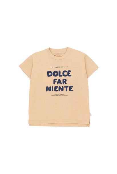 DOLCE FAR NIENTE TEE - Cappuccino / Light Navy