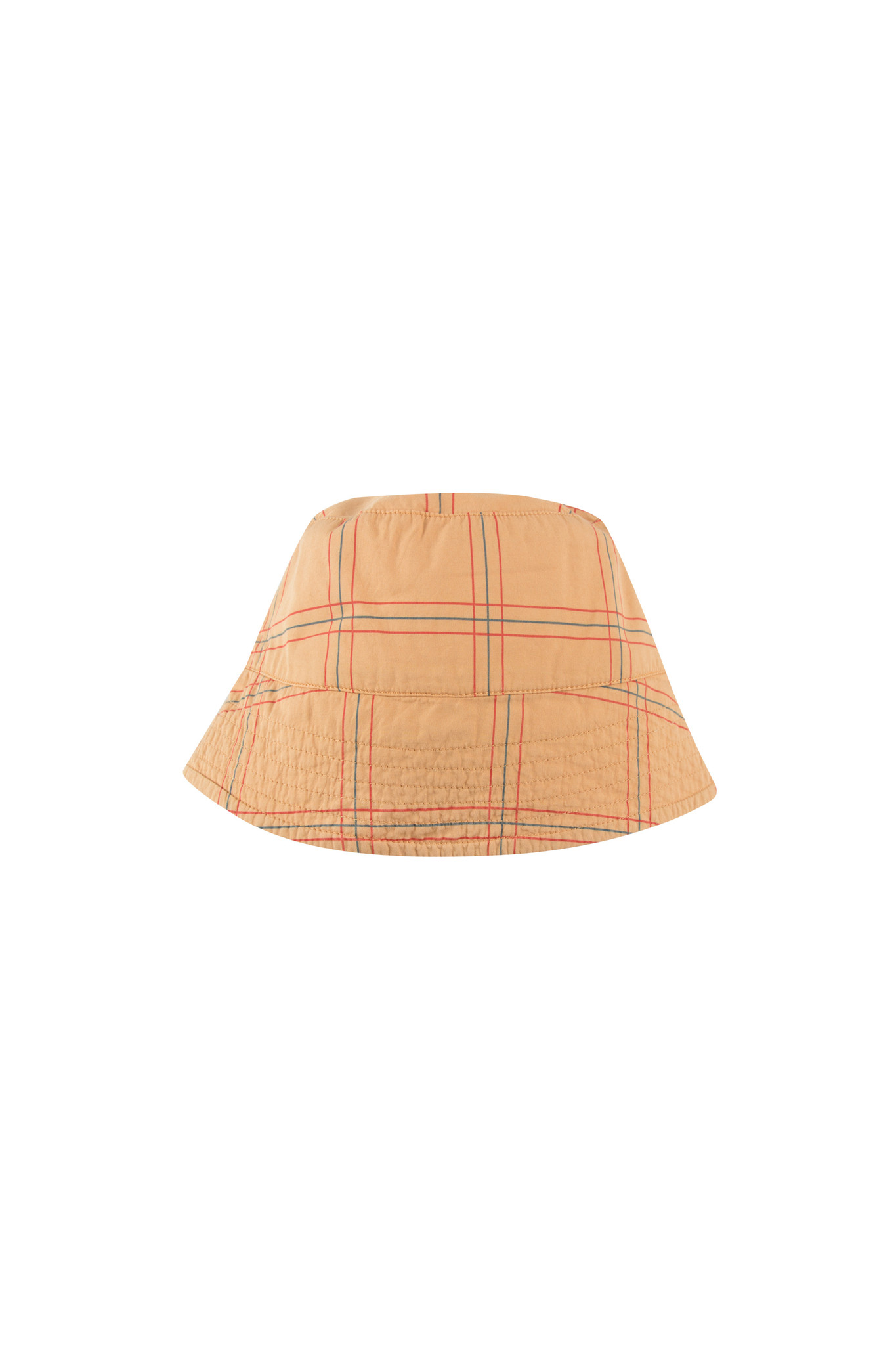 CHECK BUCKET HAT - Toffee / Red-3