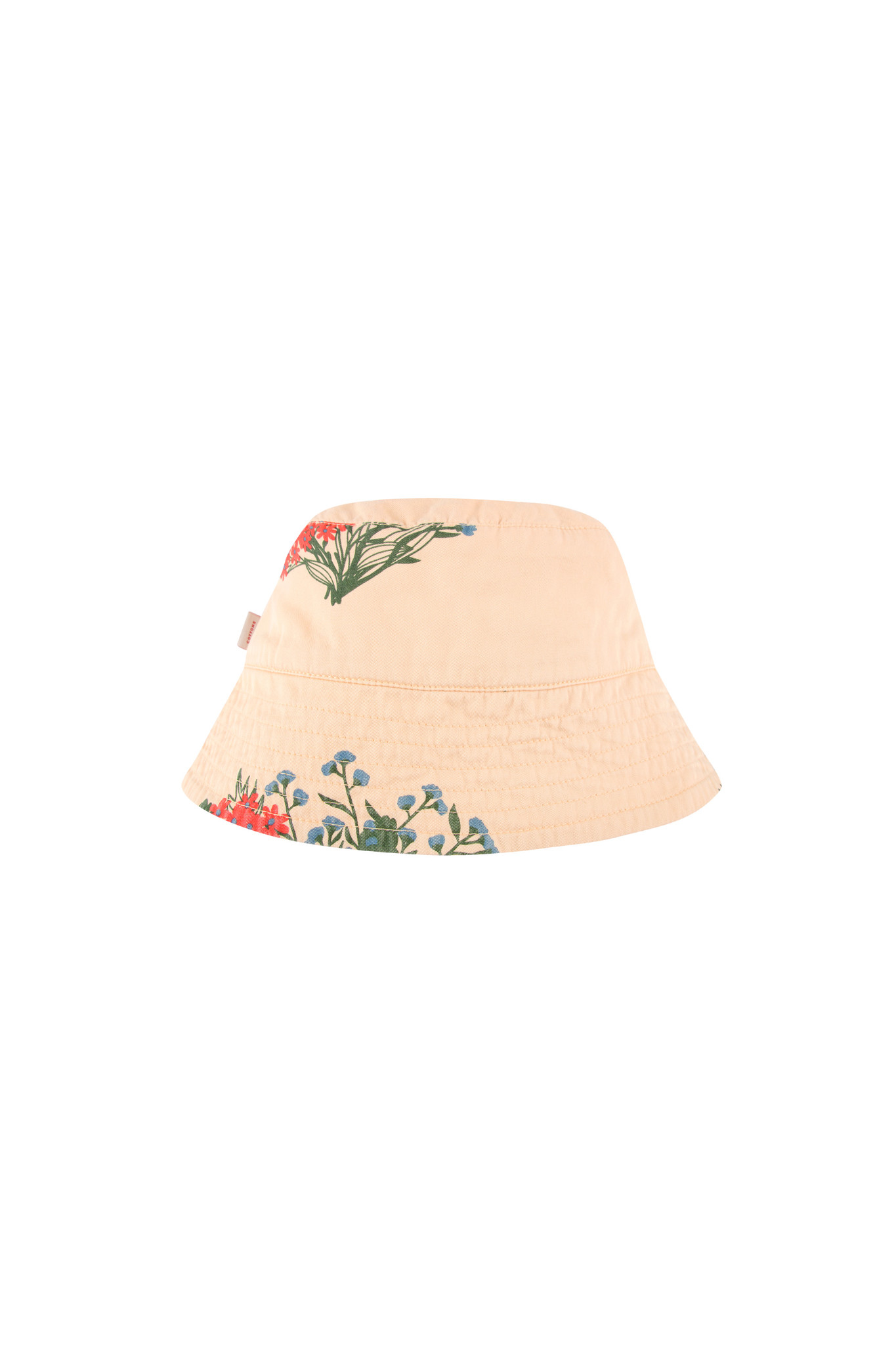 FLOWERS BUCKET HAT - Cappuccino / Red-3