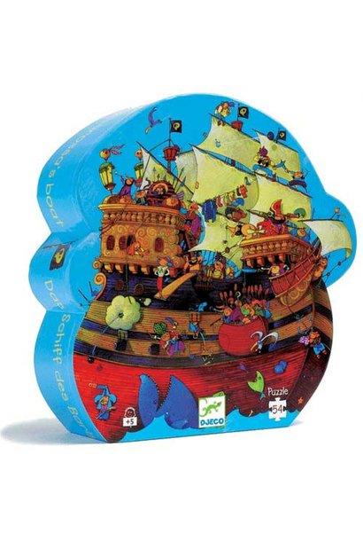 Puzzel - Het piratenschip van Roodbaard 5+