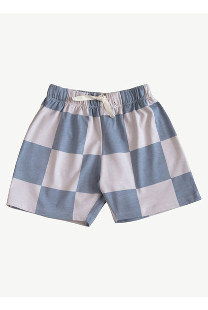 Baggy Short - Hush Violet Check