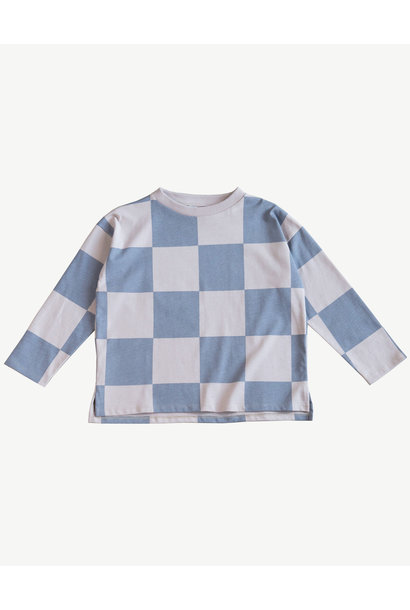 Oversized Top - Hush Violet check