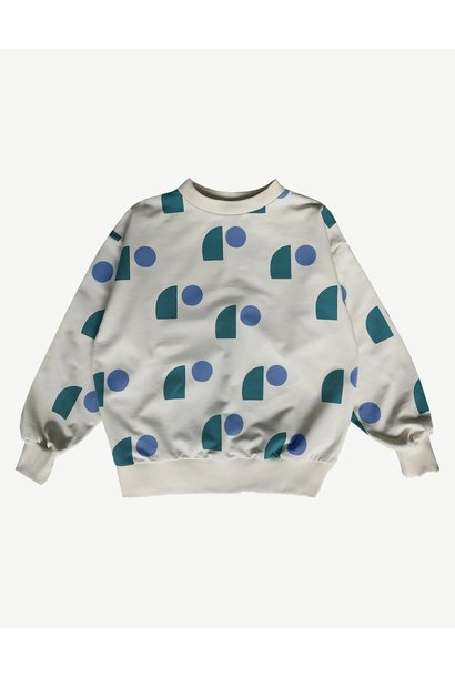 Balloon Sweatshirt - Milk Sail Print