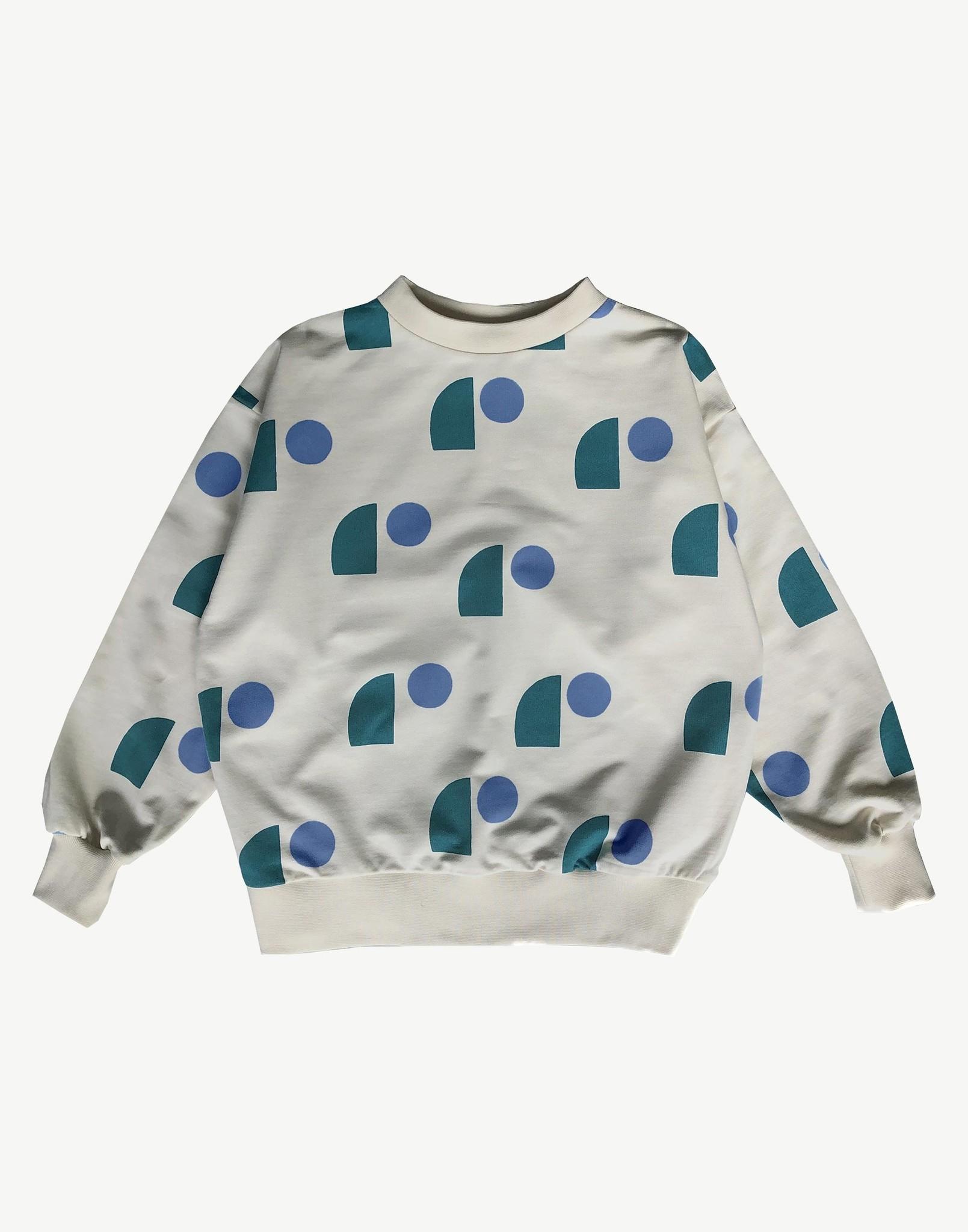 Balloon Sweatshirt - Milk Sail Print-1