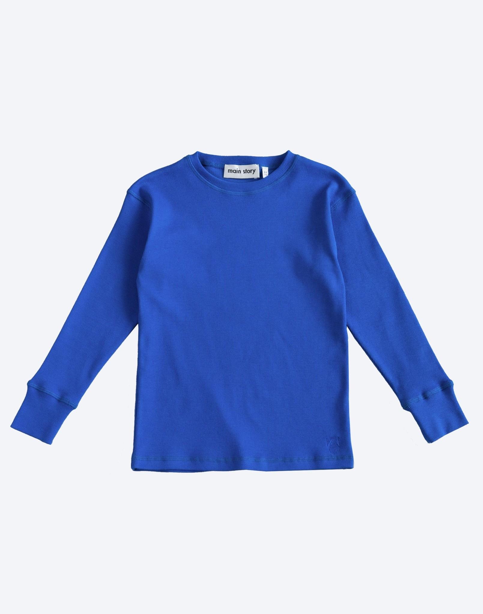 Rib Top - Dazzling Blue-1
