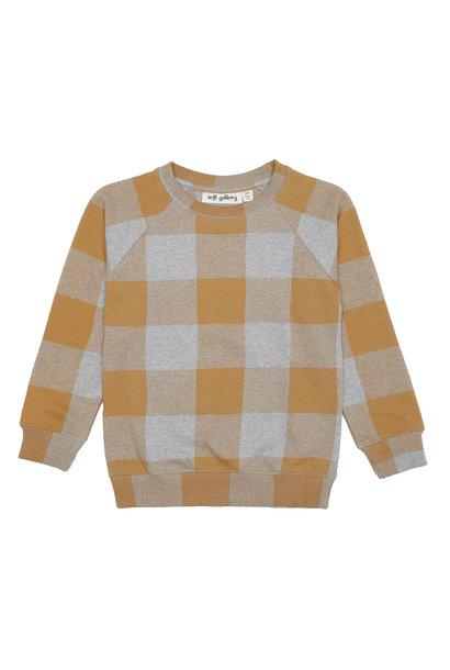 Chaz sweatshirt - Grey Melange / AOP Plaid
