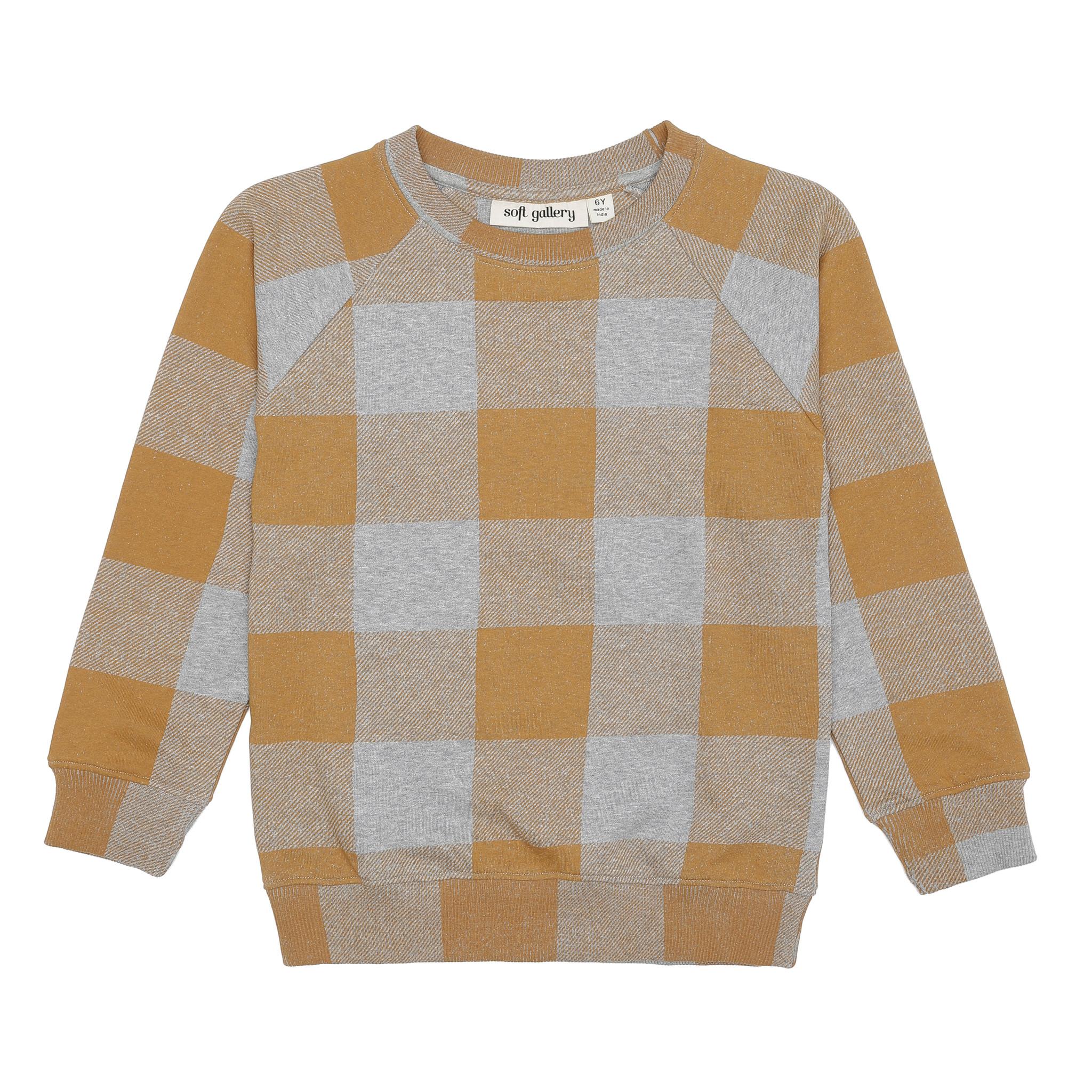 Chaz sweatshirt - Grey Melange / AOP Plaid-1