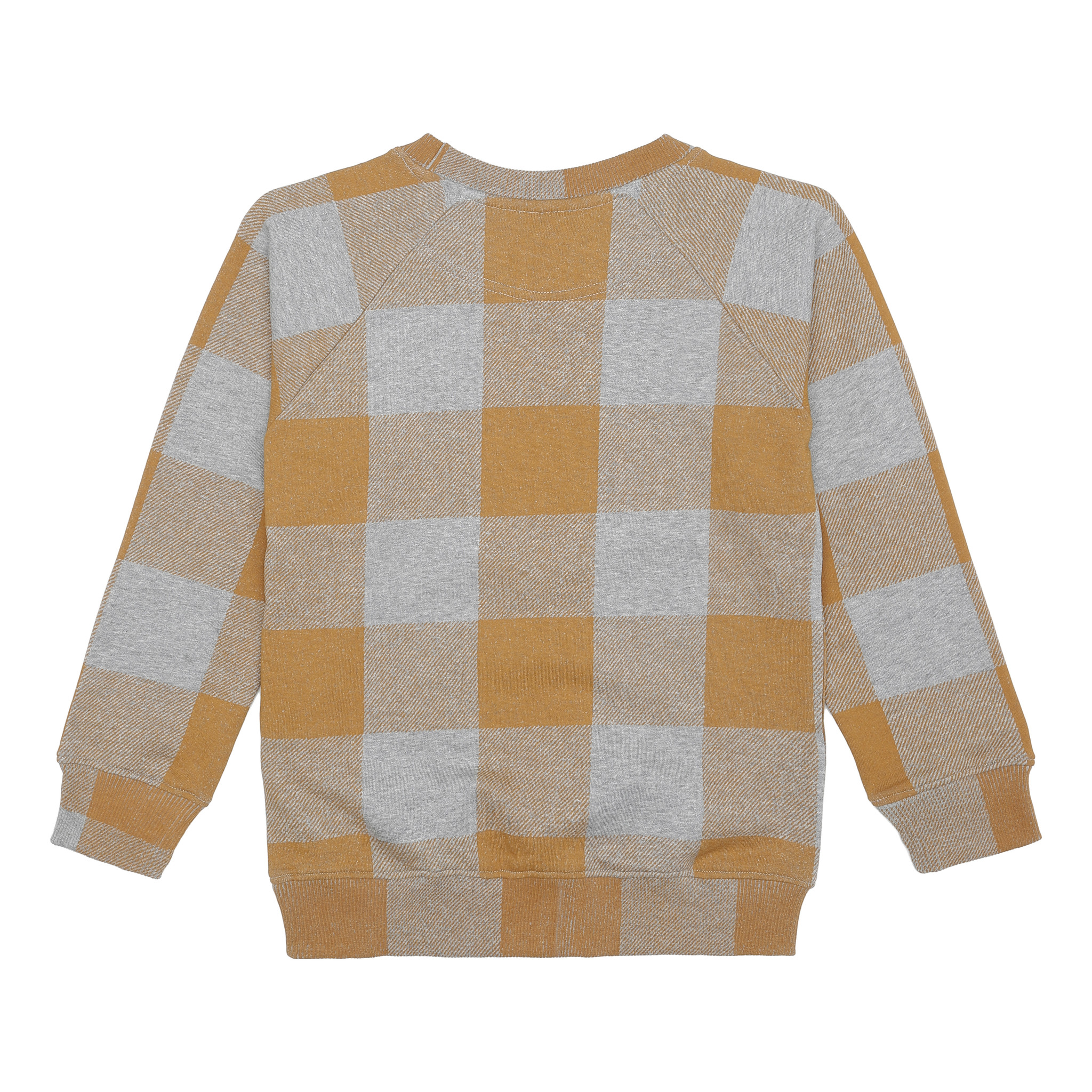 Chaz sweatshirt - Grey Melange / AOP Plaid-3