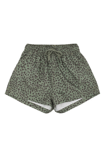 Dandy swimpants - Oil Green / AOP Leospot