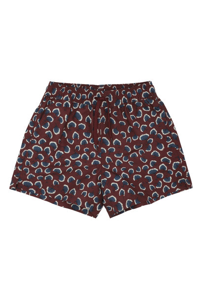 Dandy swimpants - Russet Brown / AOP Coral