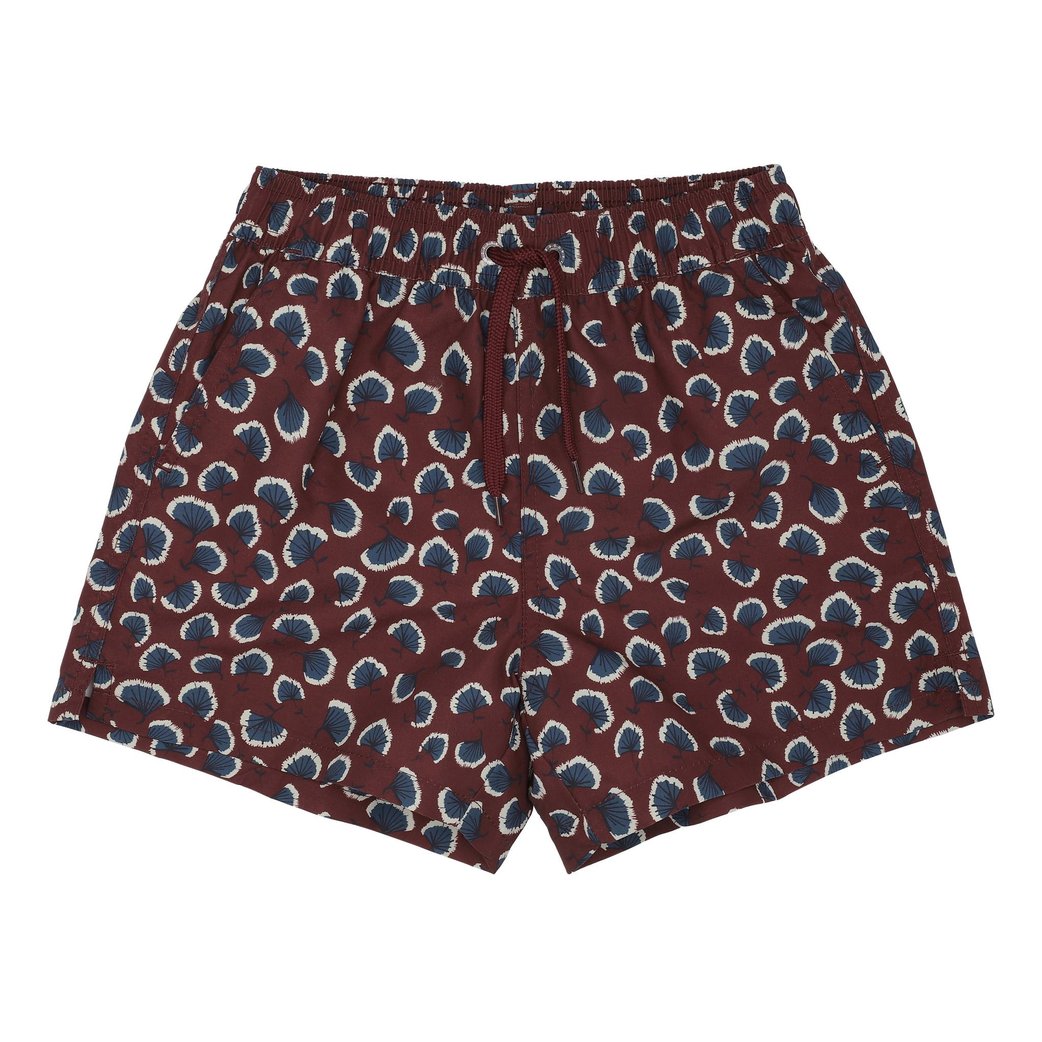 Dandy swimpants - Russet Brown / AOP Coral-1