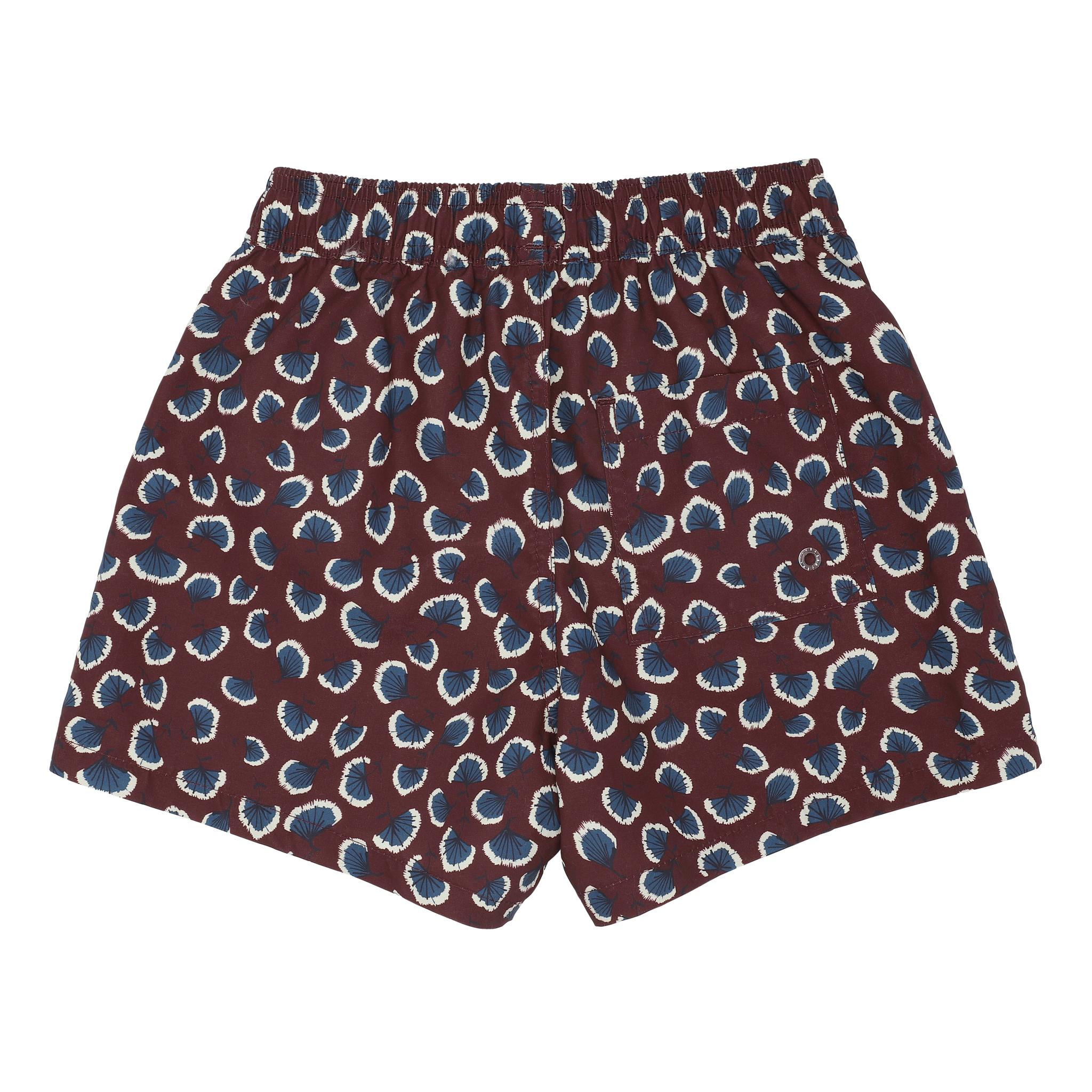 Dandy swimpants - Russet Brown / AOP Coral-3