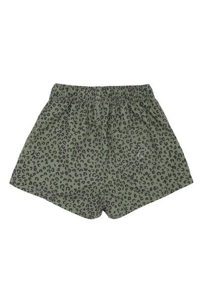 Edison swimpants - Oil Green / AOP Leospot