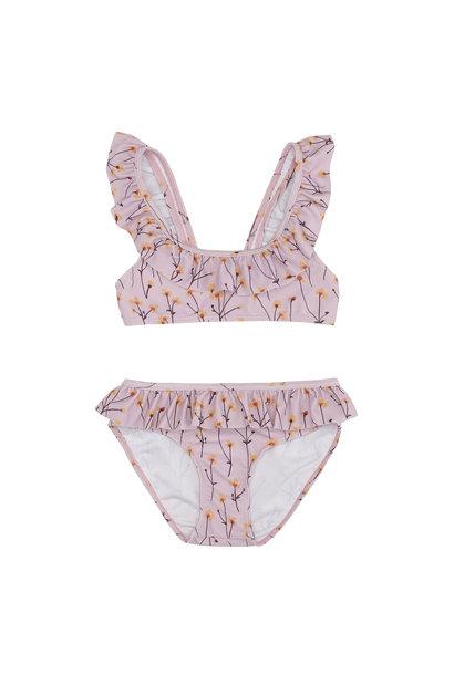 Alicia bikini - Dawn Pink / AOP Buttercup