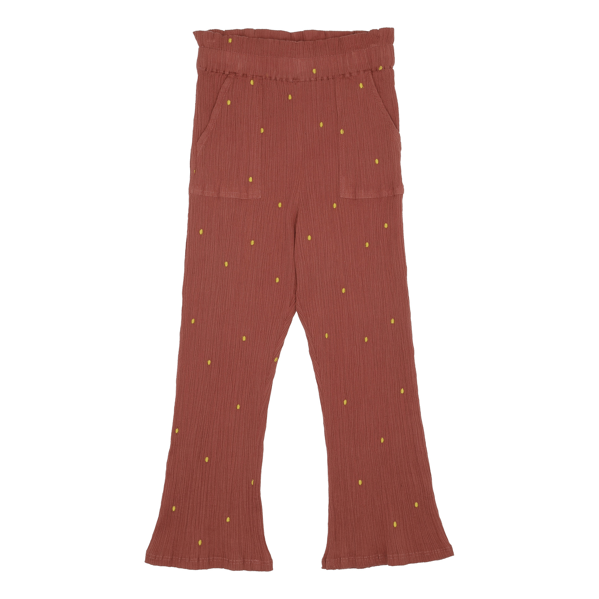 Francine pants - Cinnabar / AOP Dotty emb.-1