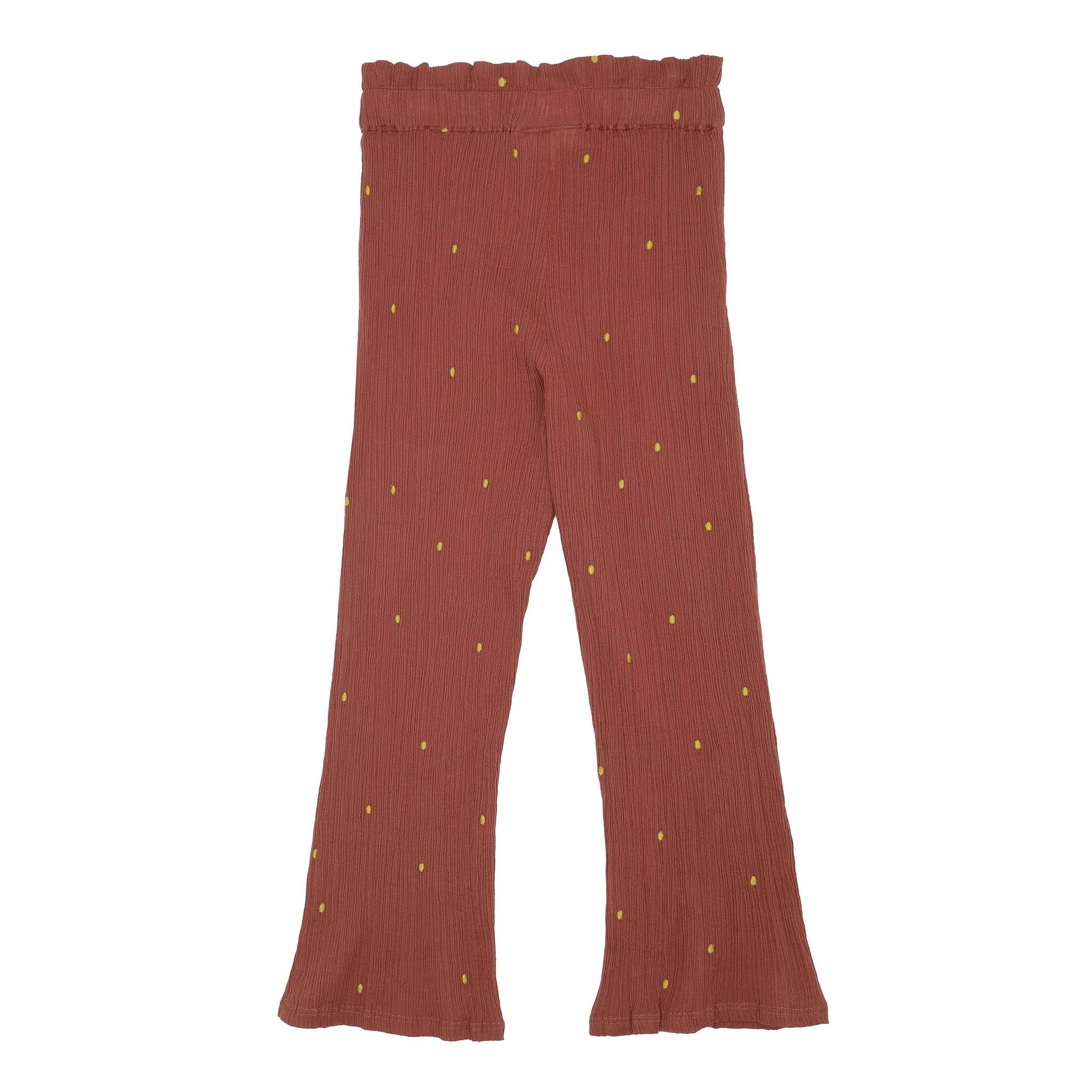 Francine pants - Cinnabar / AOP Dotty emb.-3